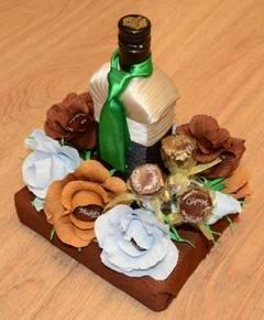 оформление бутылочно-алкогольного подарка
