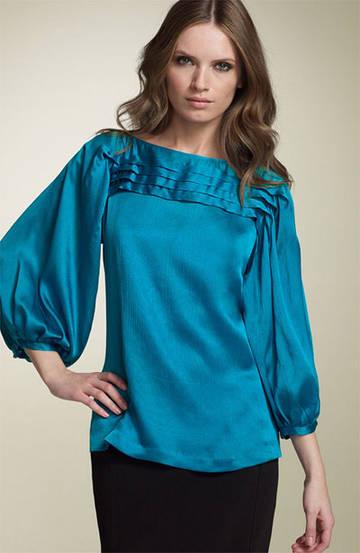 Женская одежда: Шелковые Блузки