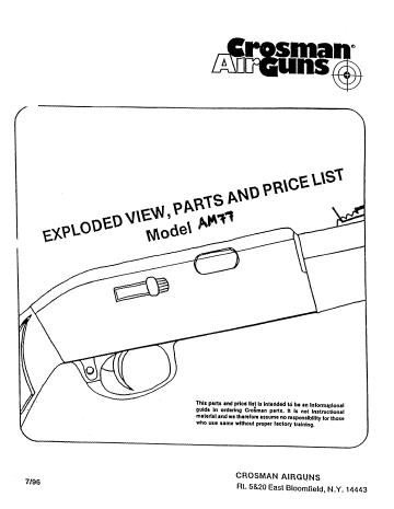 Паспорт и взрыв-схема Crosman Remington...  Для просмотра щелкните левой кнопкой мыши по документу и в открывшемся...